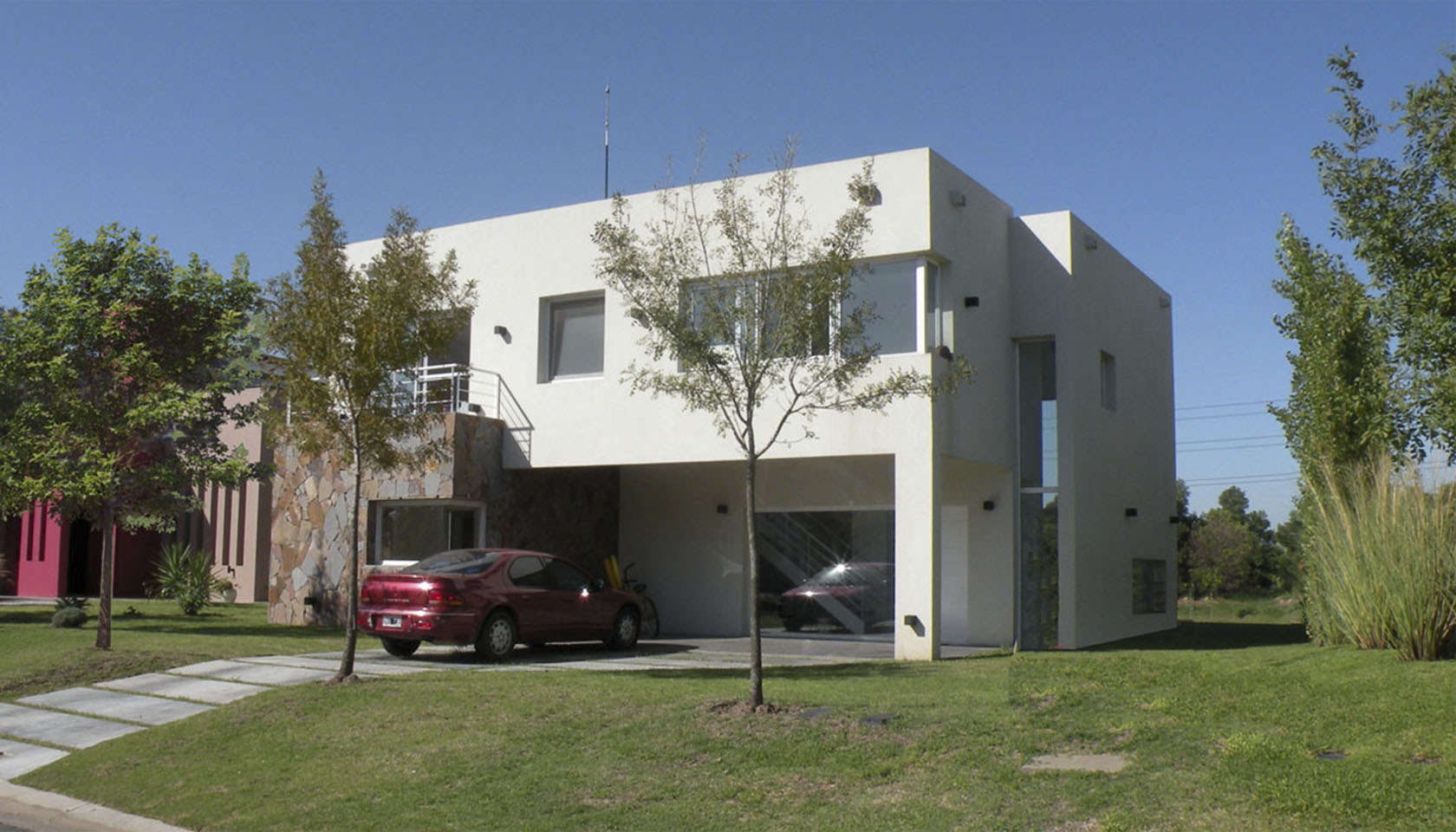 casas modernas, fachadas en piedra