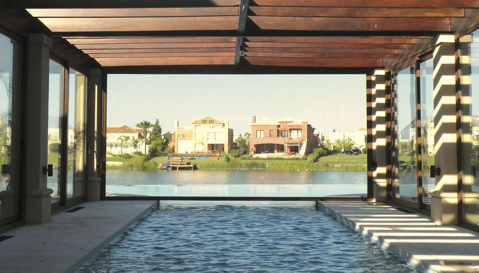casas con vista al lago, arquitectura y paisaje