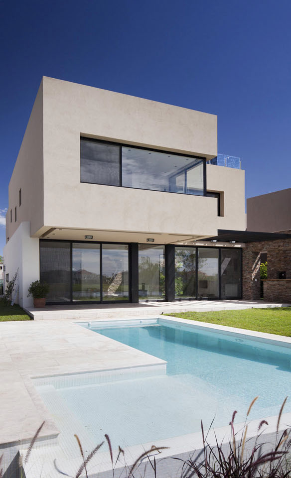 piletas modernas, casas con atmosferas serenas