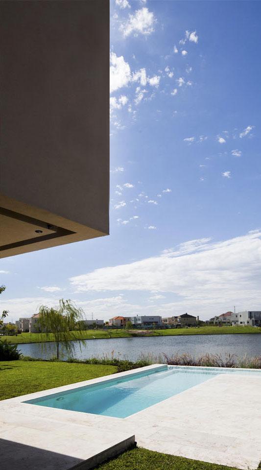 voladizos en viviendas, galerías modernas, arquitectura y paisaje