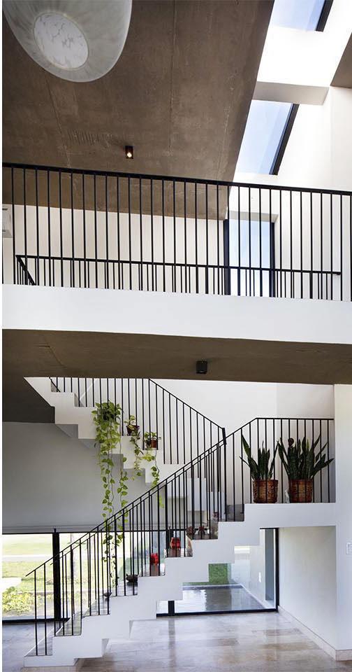 barandas contemporáneas, escaleras modernas, puentes interiores
