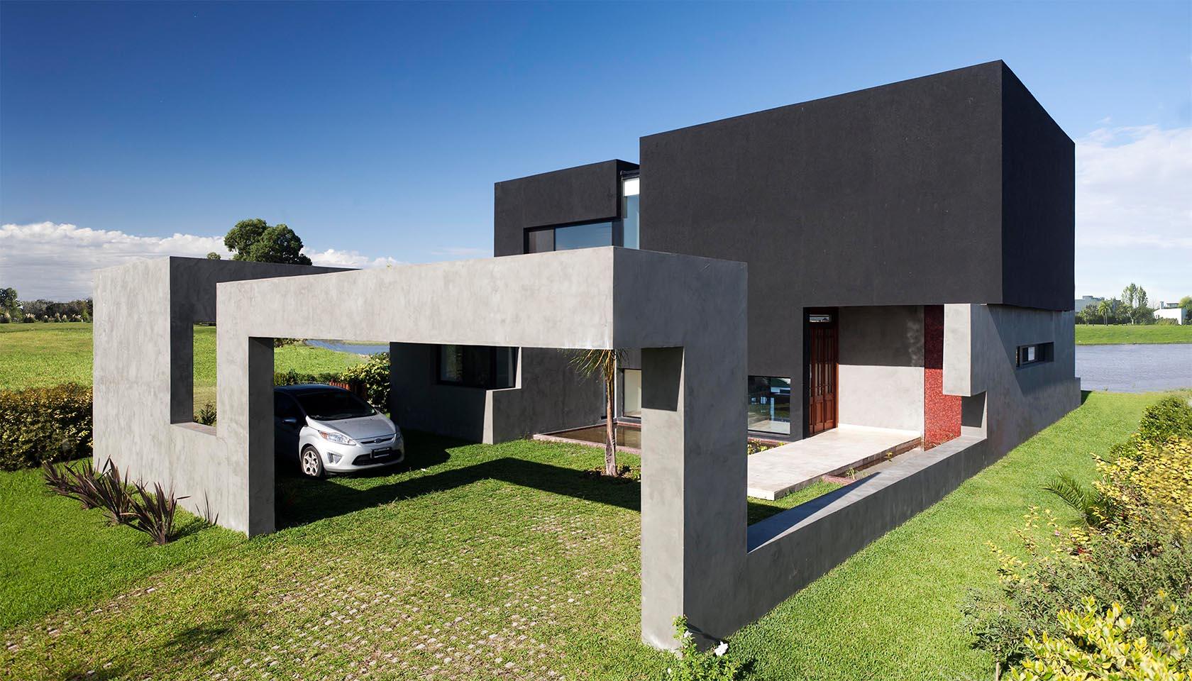 casas modernas, casas negras, arquitectura contemporánea