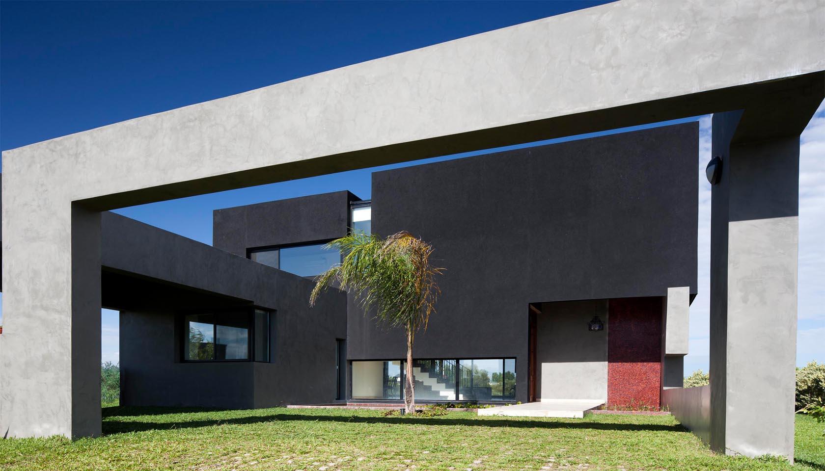 patios en vivienda, estanques en casas, encuadre del paisaje