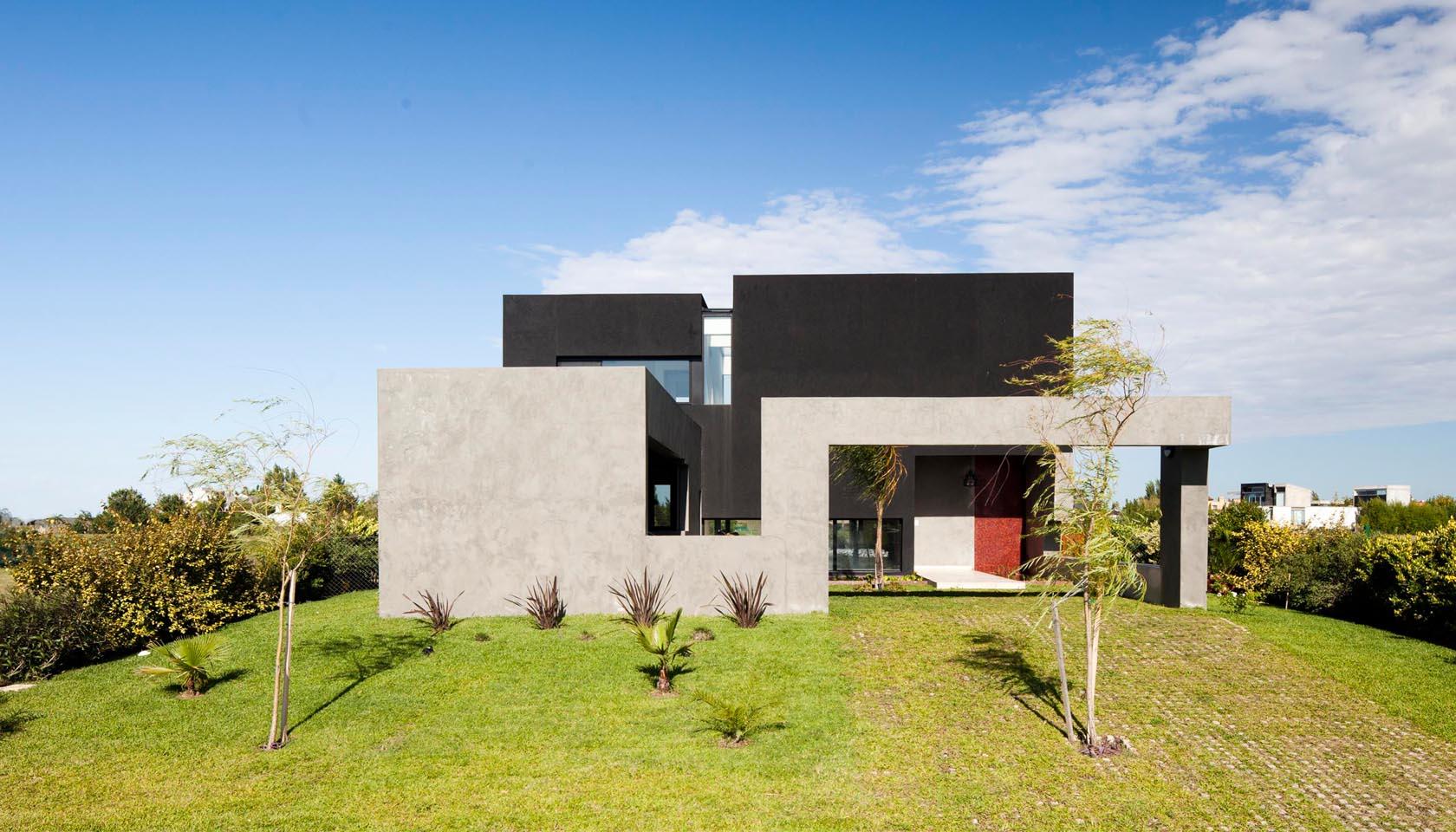 arquitectura de cintas de hormigón, diseño de fachadas, casas conceptuales,