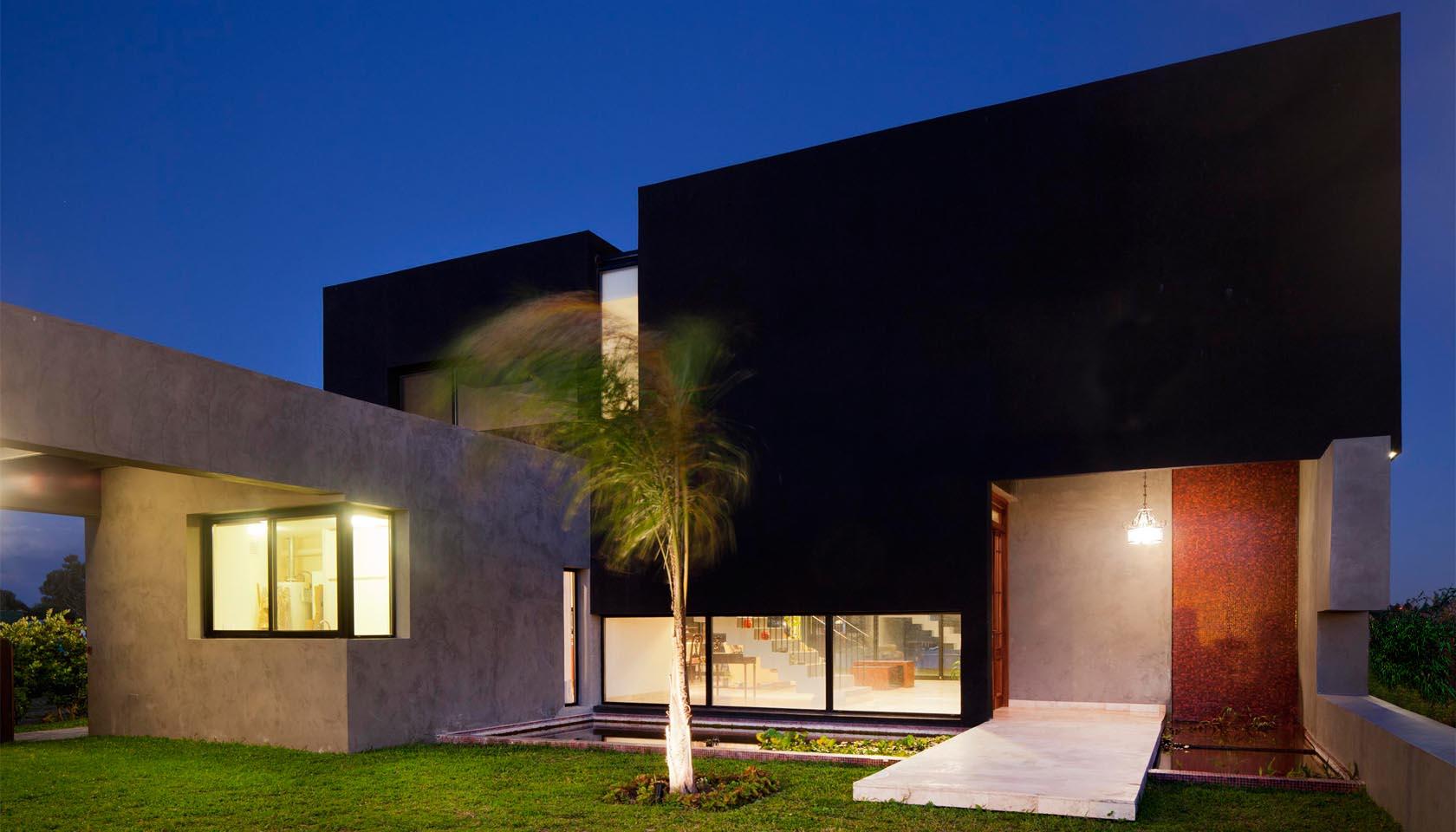 ingresos mágicos en viviendas, casas modernas, casas cálidas, fachadas mexicanas contemporáneas