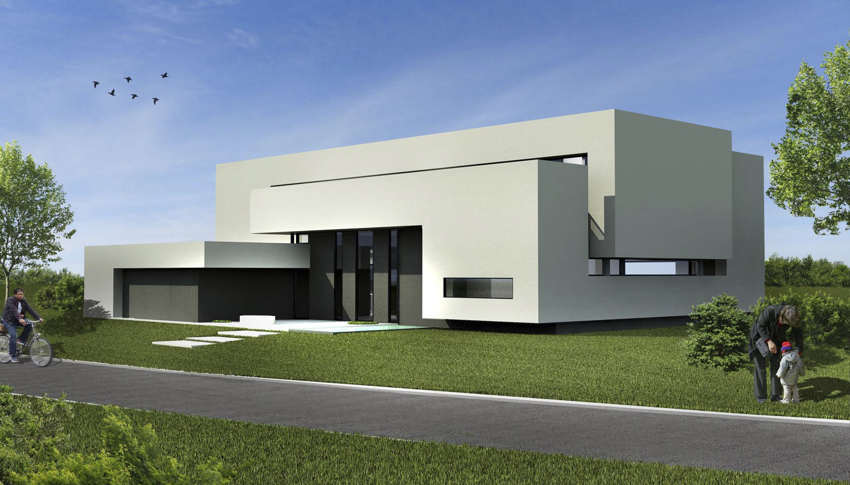 Casas contemporáneas, arquitectura minimalista, casas en hormigón