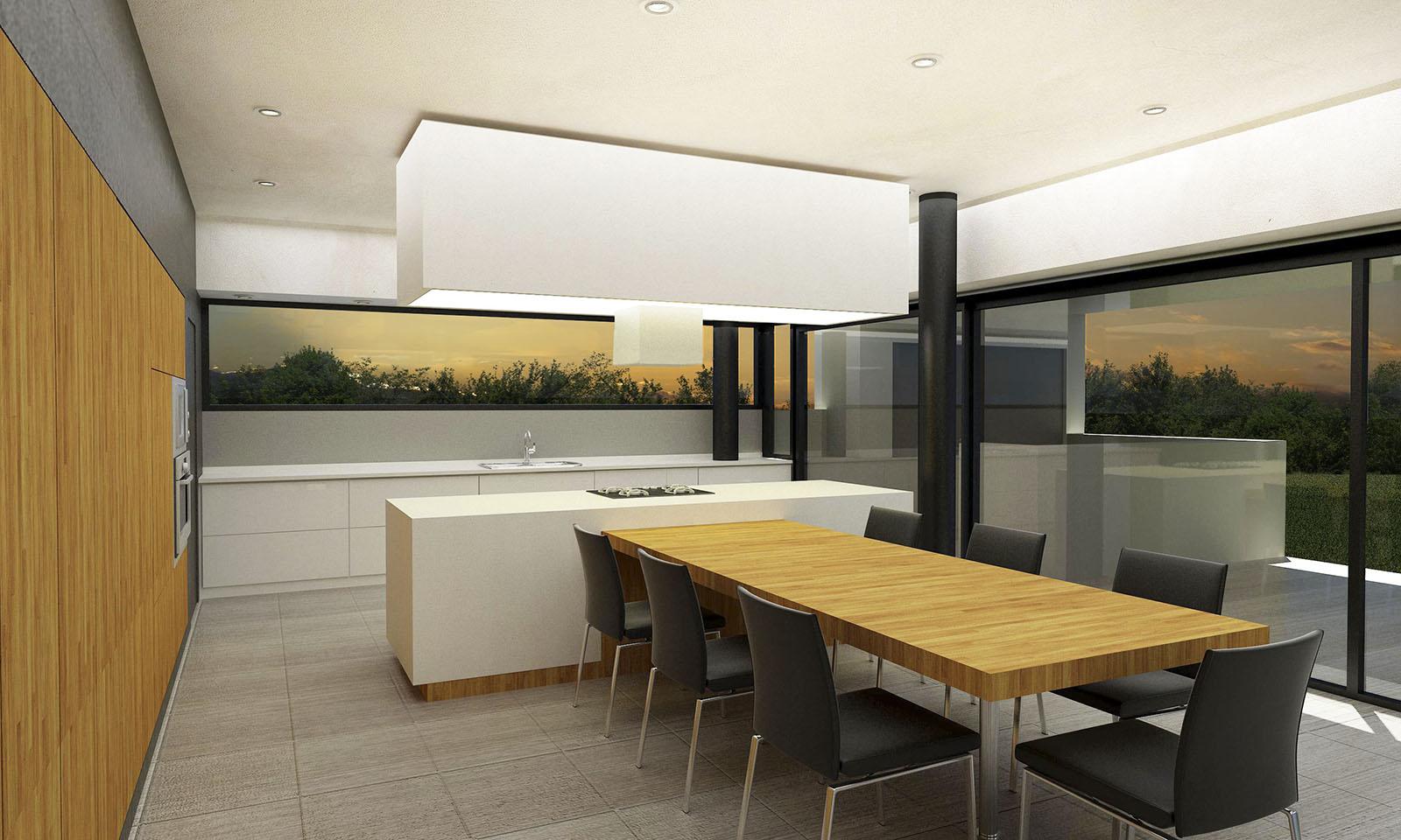 comedores modernos, integración cocina y comedor, cocinas modernas