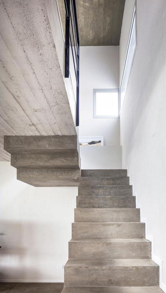 escaleras de hormigón visto, diseño de escaleras