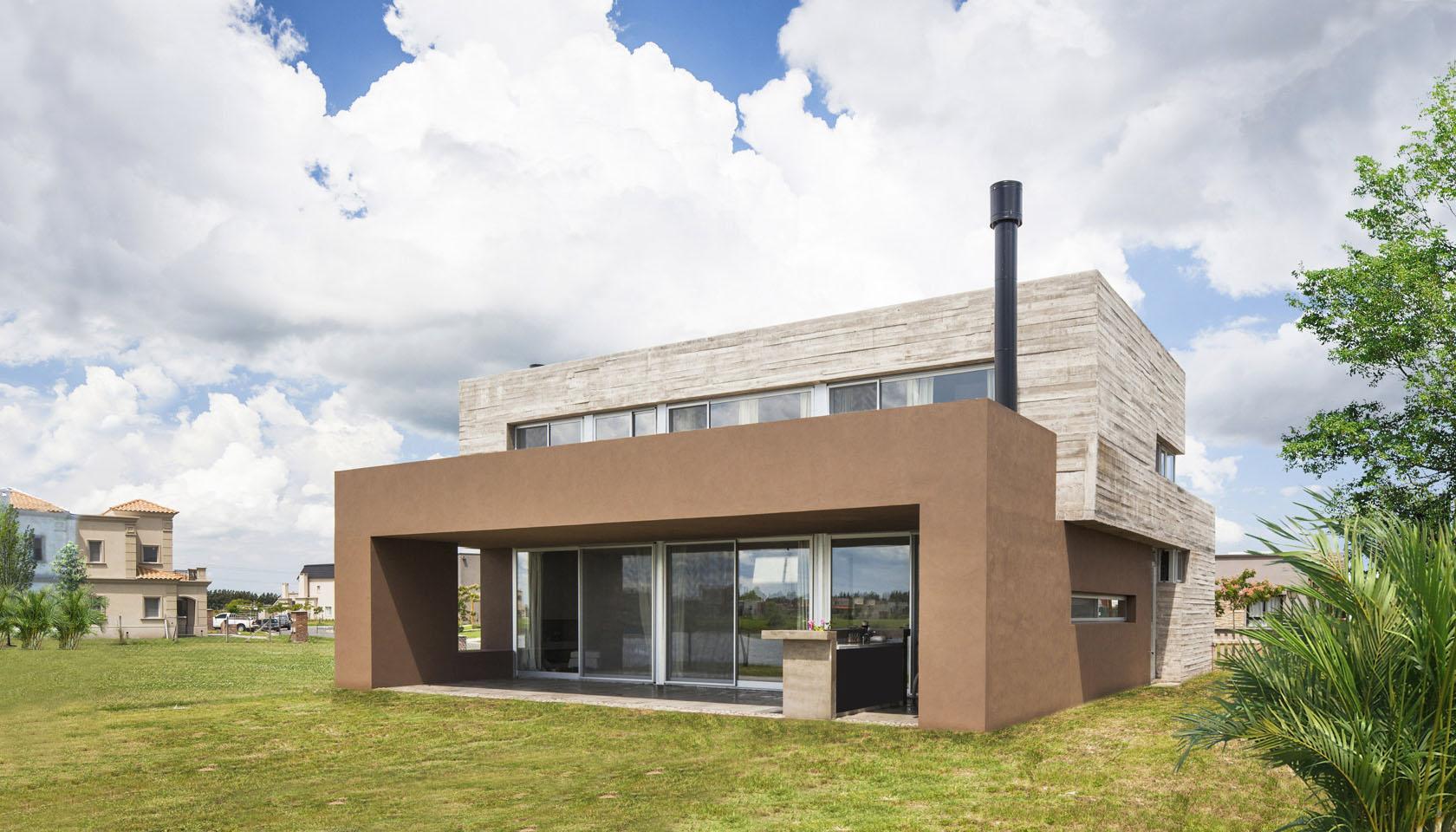 Casas minimalistas, casas de hormigón a la vista