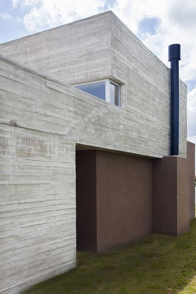hormigón de tablas, detalles de hormigón, fachadas mixtas