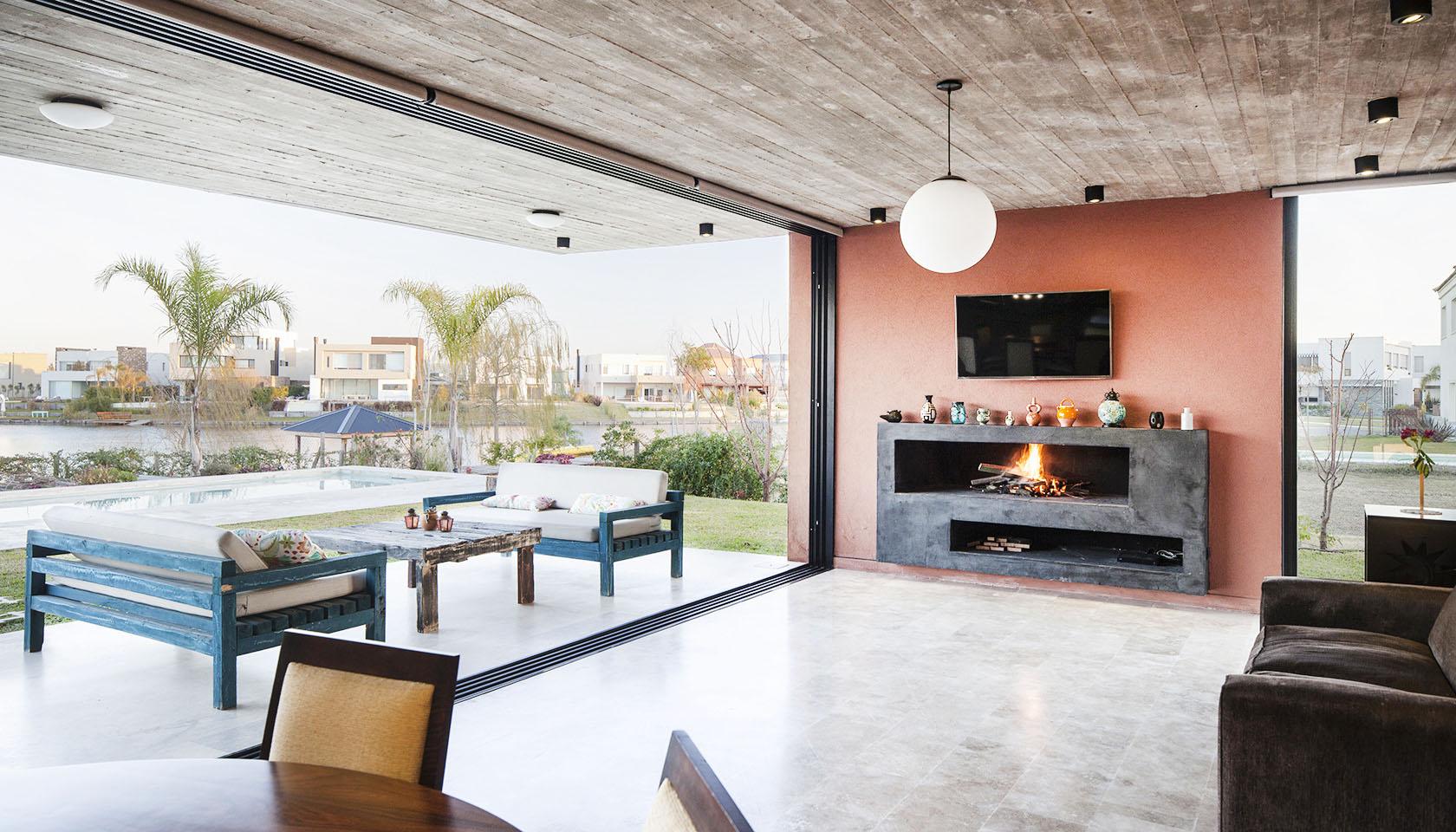 casas con visuales al lago, arquitectura y paisaje, grandes ventanales en casas modernas