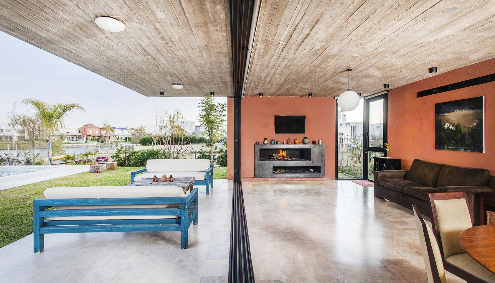 vista interior living galeria