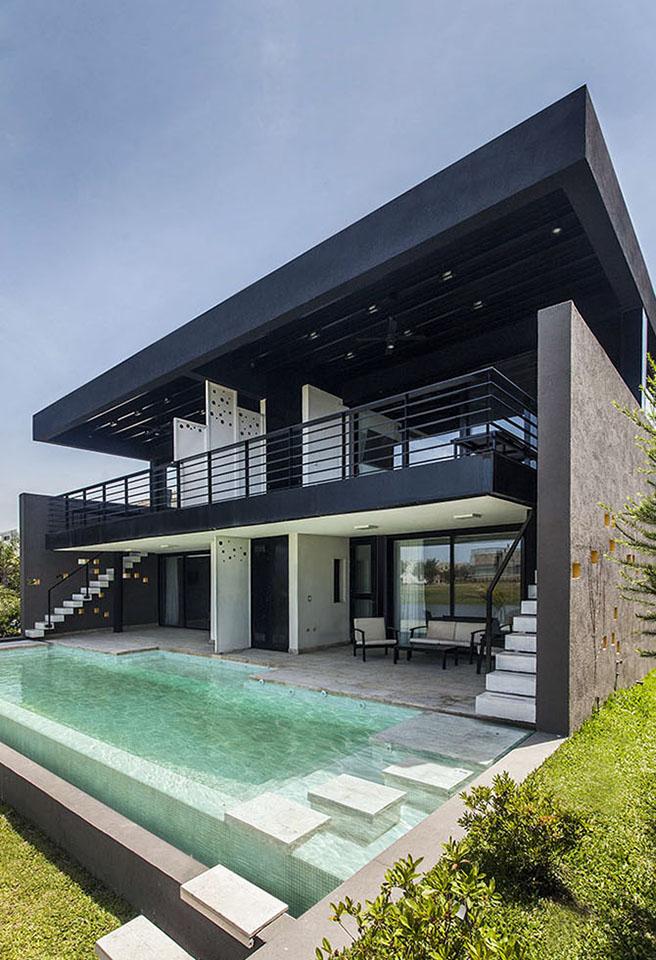 diseño de barandas modernas, casas contemporáneas