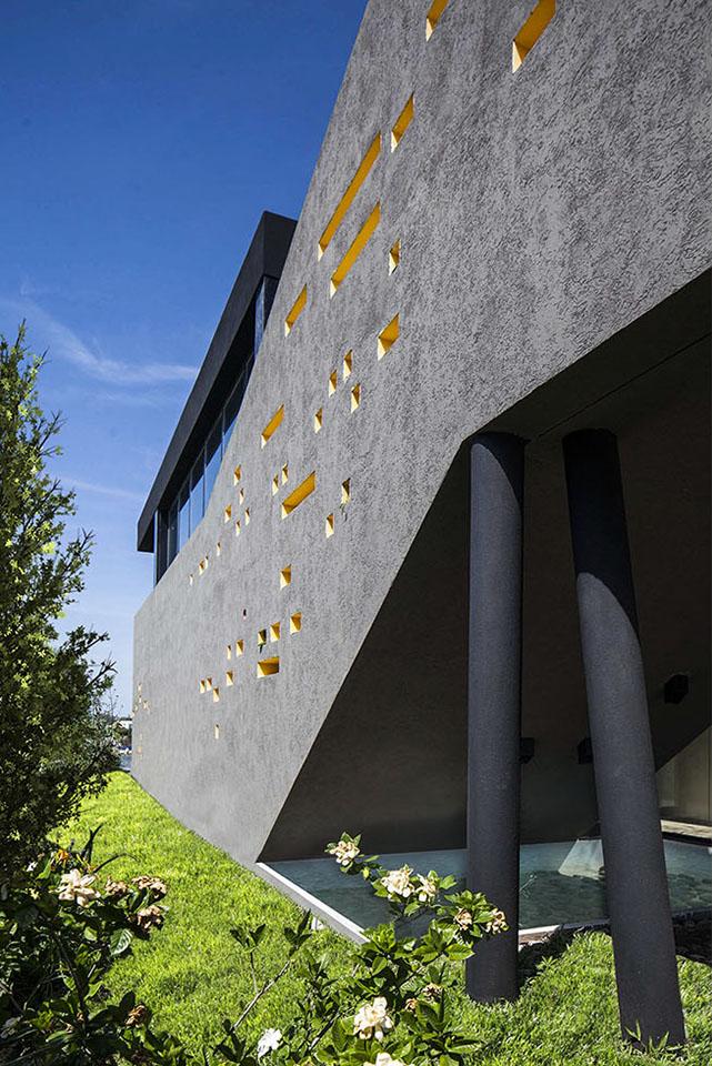 plegados arquitectónicos, diseño de casas contemporáneos