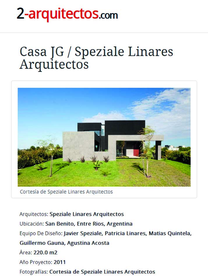 2-ARQUITECTOS - CASA JG