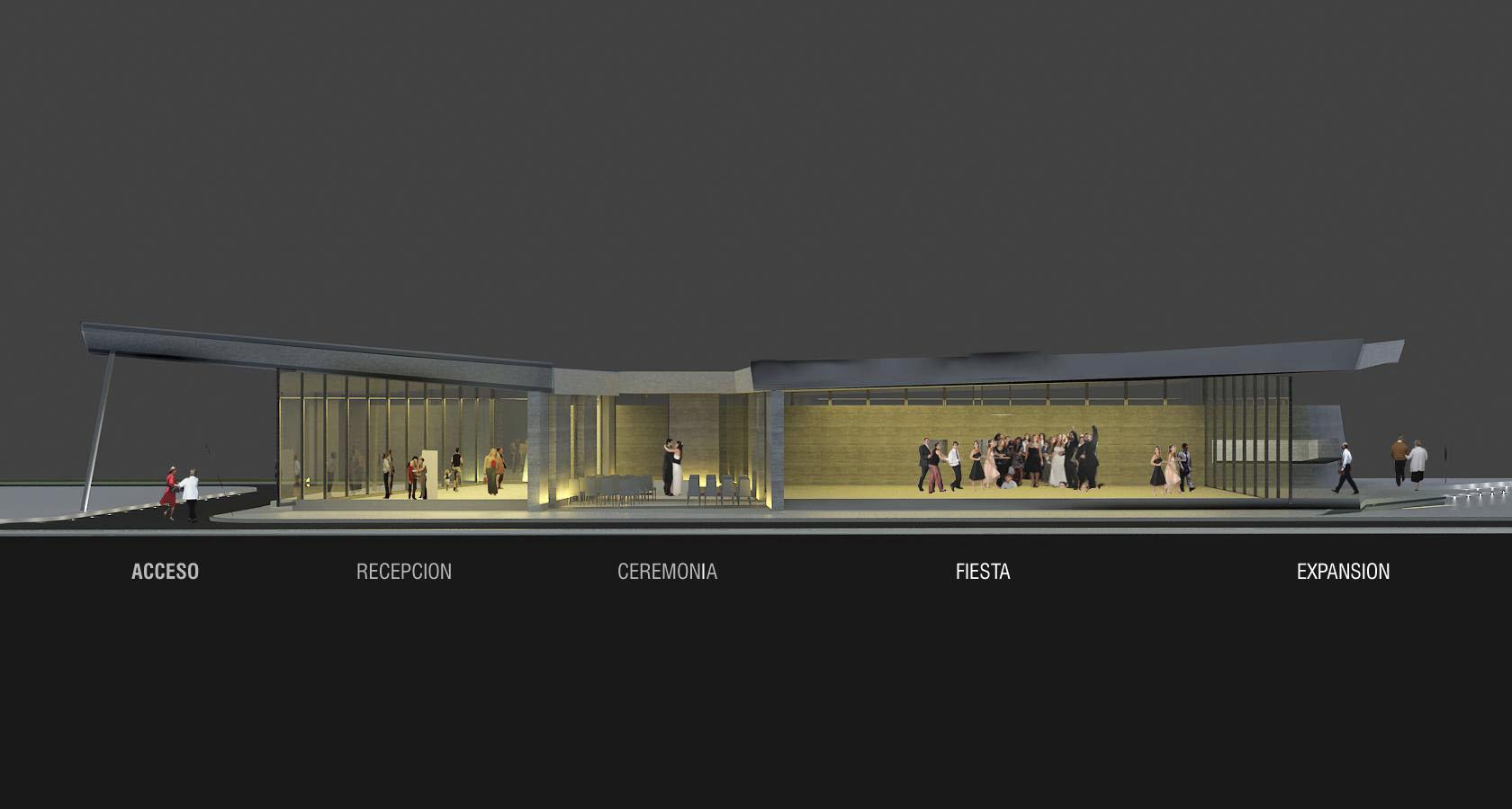 Relación de espacios en edificios contemporáneos