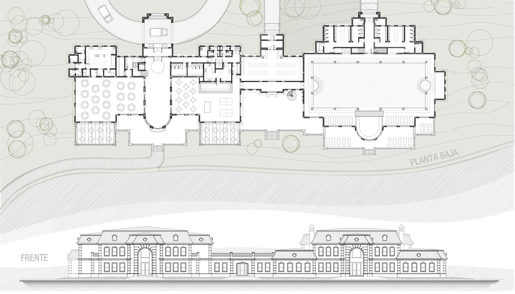 Diseño de edificios clásicos.