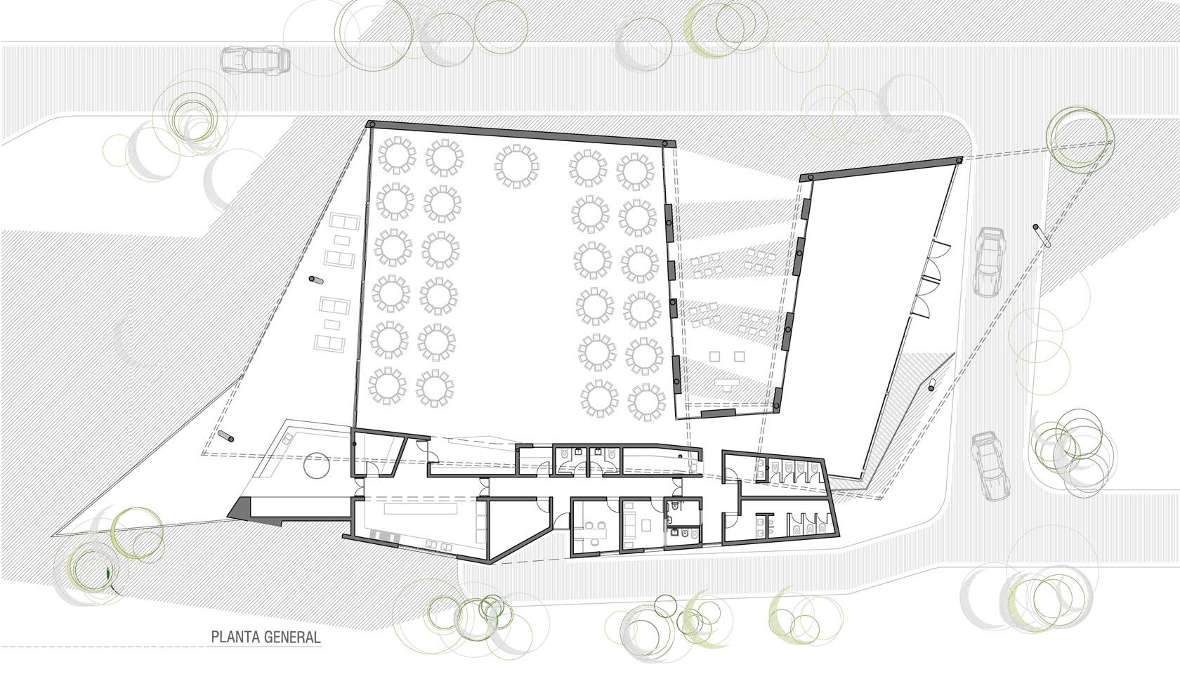 Plantas de edifico modernos, plantas de arquitectura contemporánea