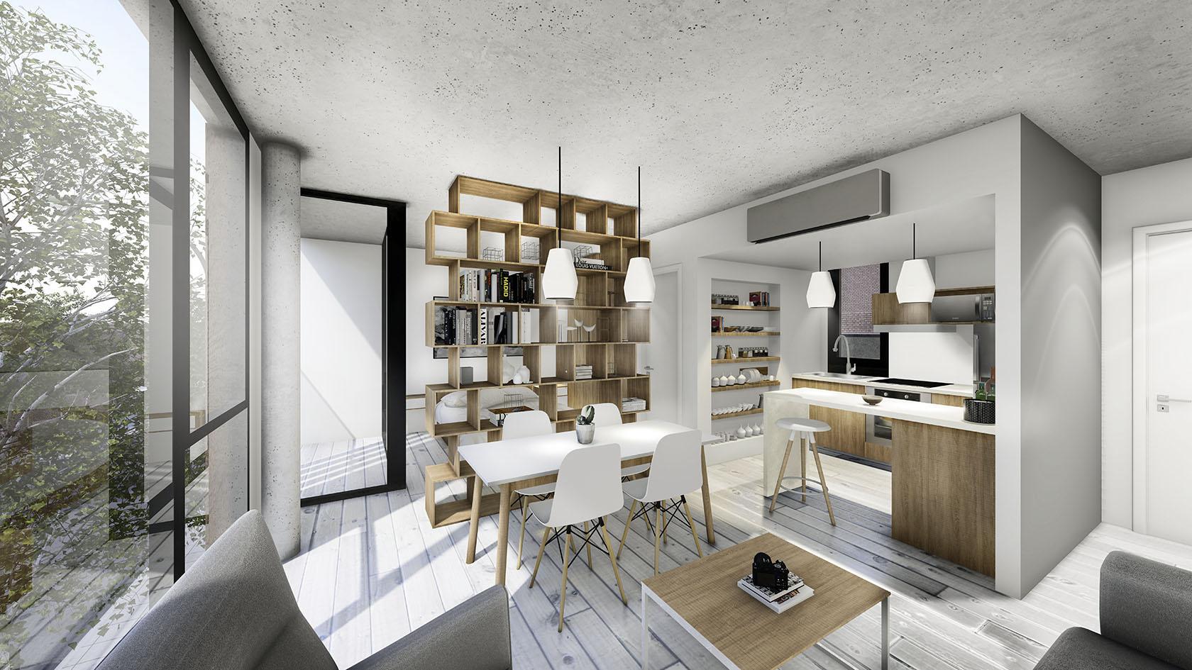 Diseño de cocinas en mono ambientes, optimización de espacio en pequeños ambientes