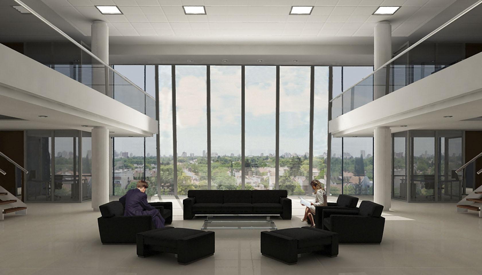 Espacios modernos en edificios de oficinas, ingreso de luz natural en oficinas