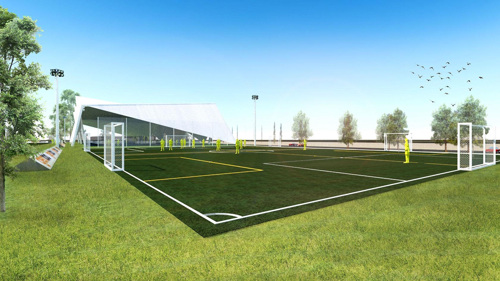 Diseño de canchas de futbol