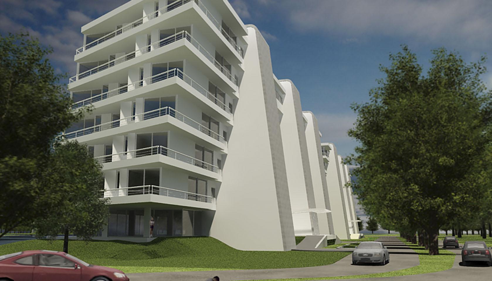 Edificios contemporáneos en buenos aires, diseño de complejos de vivienda