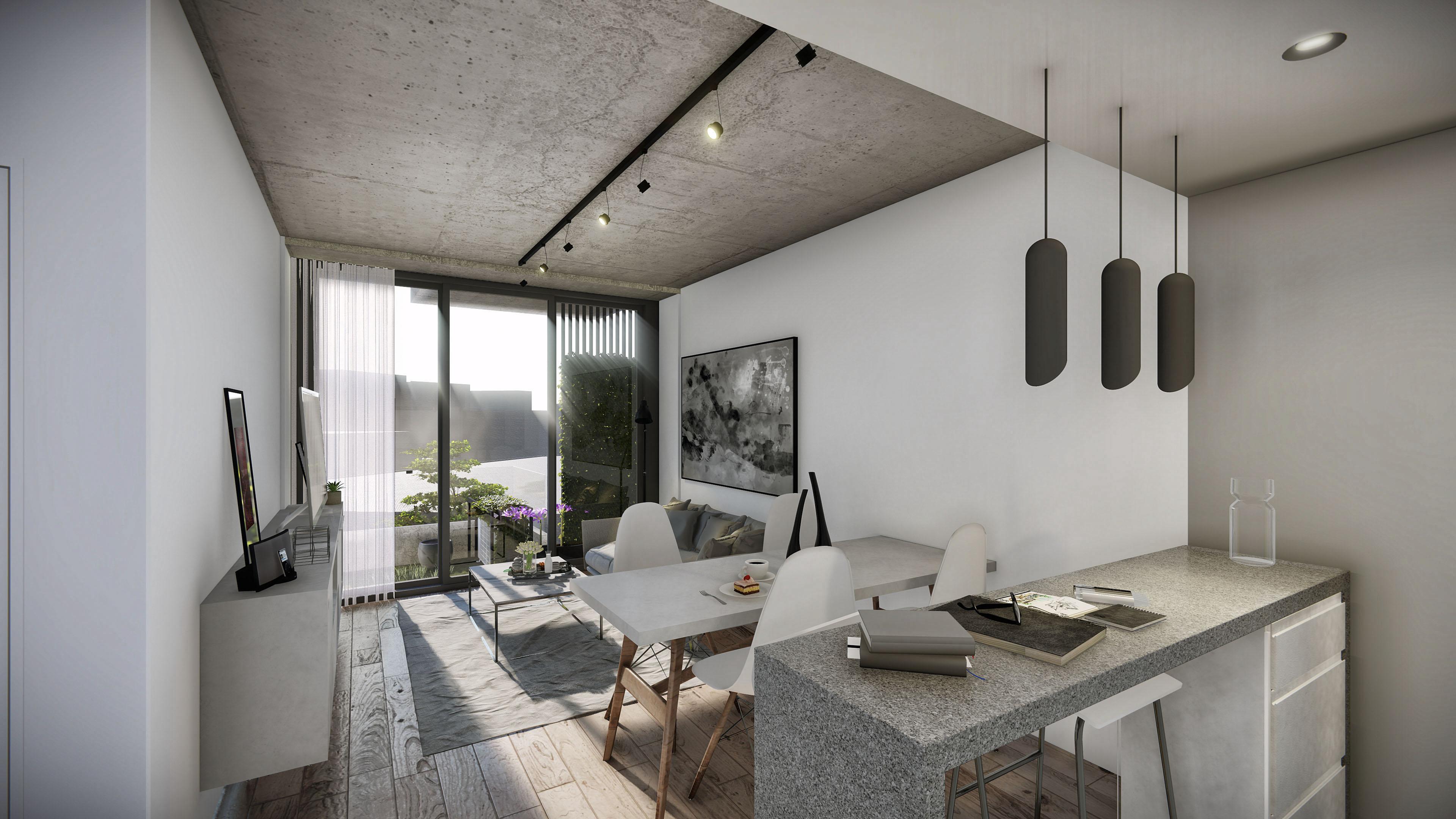 15 vista interior departamento dos ambientes