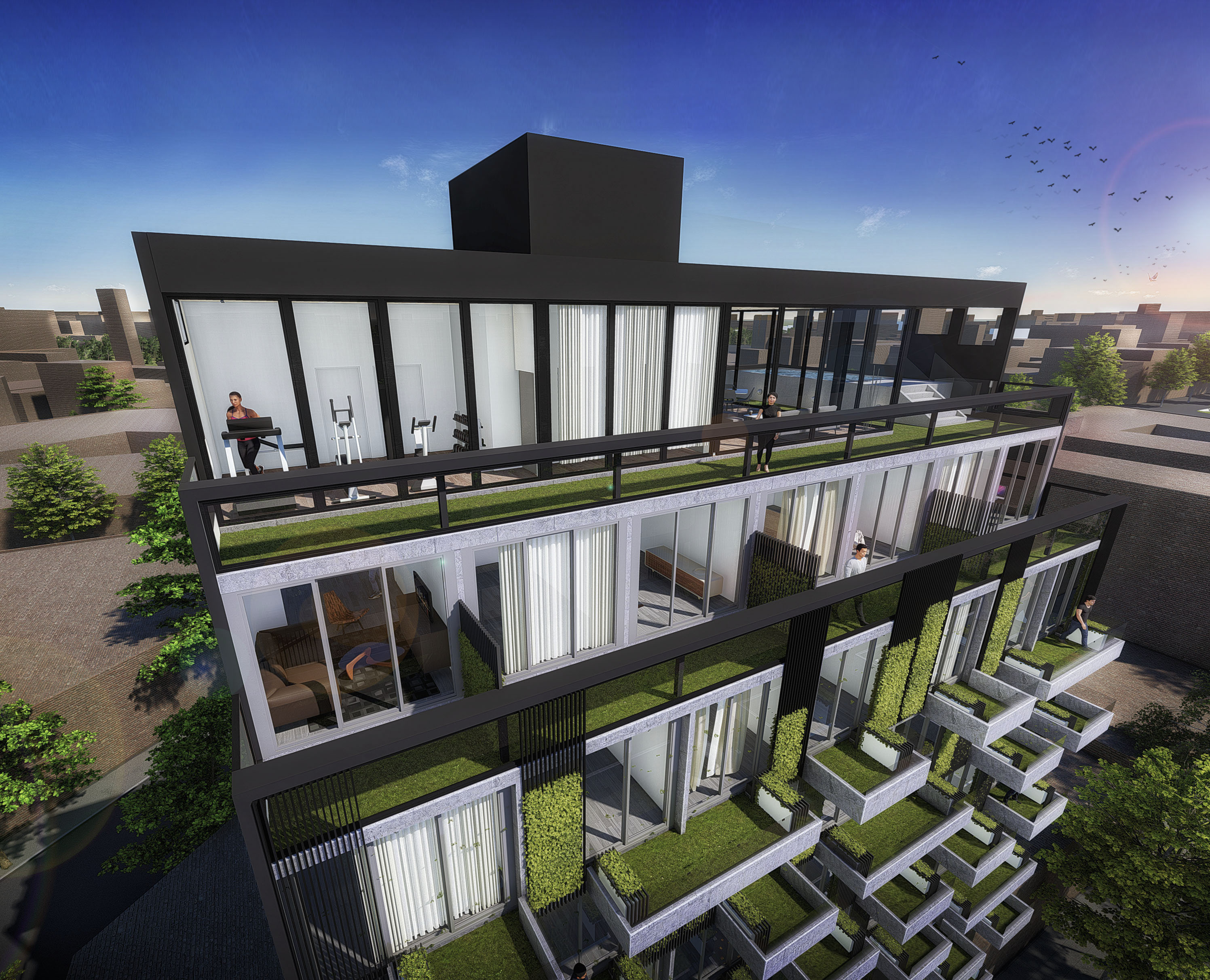 8 vista exterior aerea remate y terraza