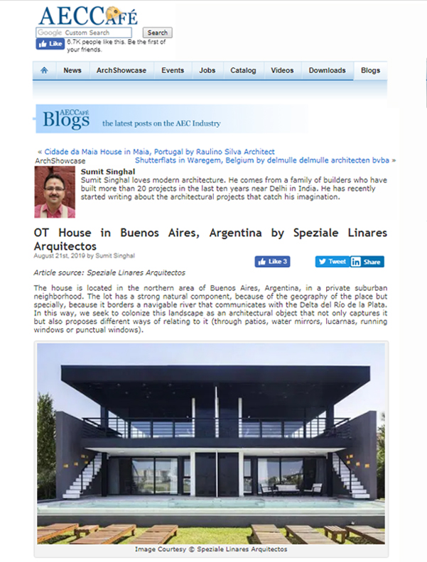 Publicacion Casa OT AECCAFE